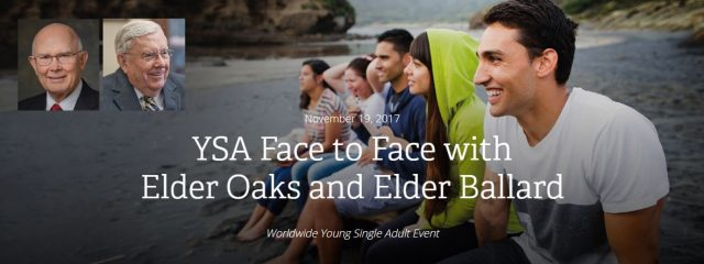 LDS Face to Face With Elders Oaks and Ballard, Nov. 19, 2017