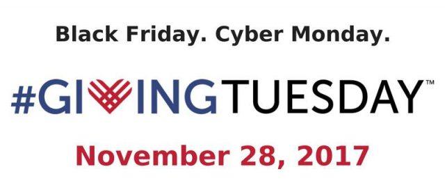 Giving Tuesday, Nov. 28, 2017