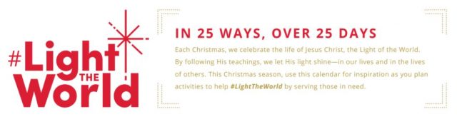 Day 19 of #LightTheWorld LDS Christmas Celebration