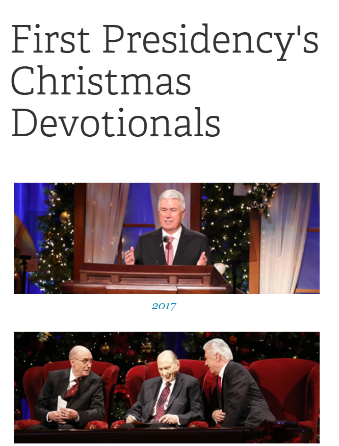 First Presidency Christmas Devotionals