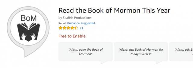 Amazon Alexa Skill: Listen to Your Scriptures from ScripturesEveryDay.com