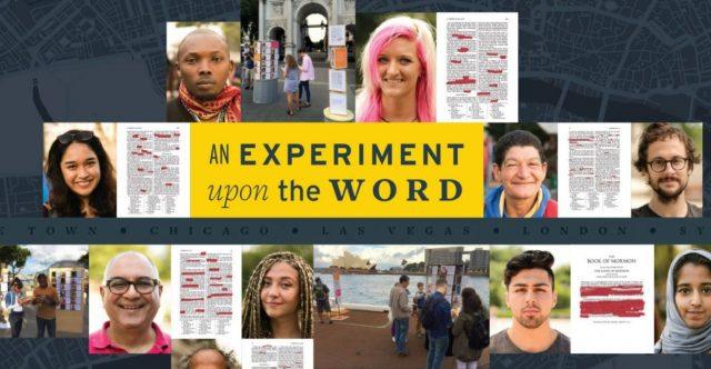 Book of Mormon Experiment: Let the Book Speak For Itself