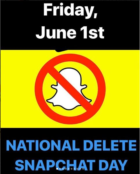 National Delete Snapchat Day, June 1