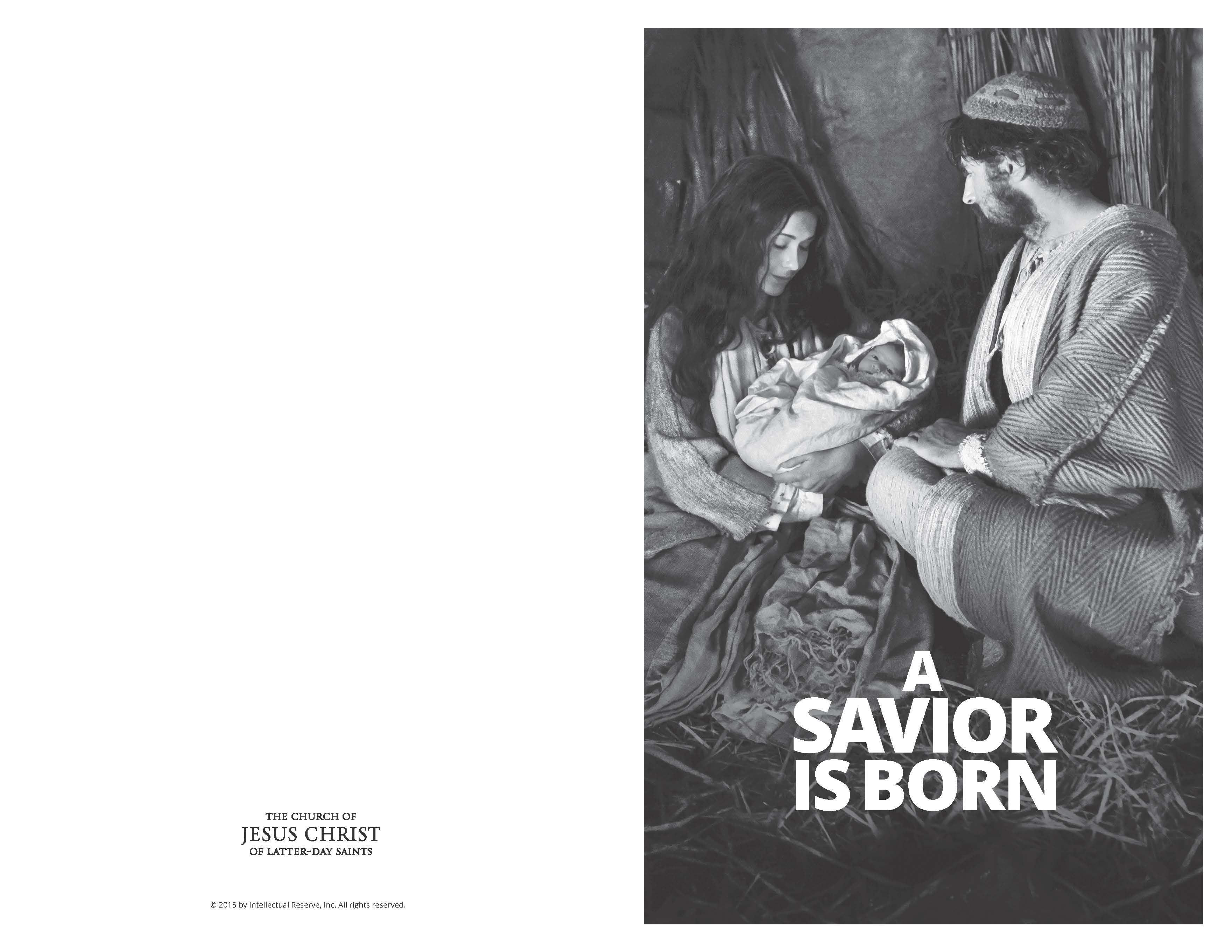 Asaviorisborn Lds Christmas Program Bw Lds365 Resources From The