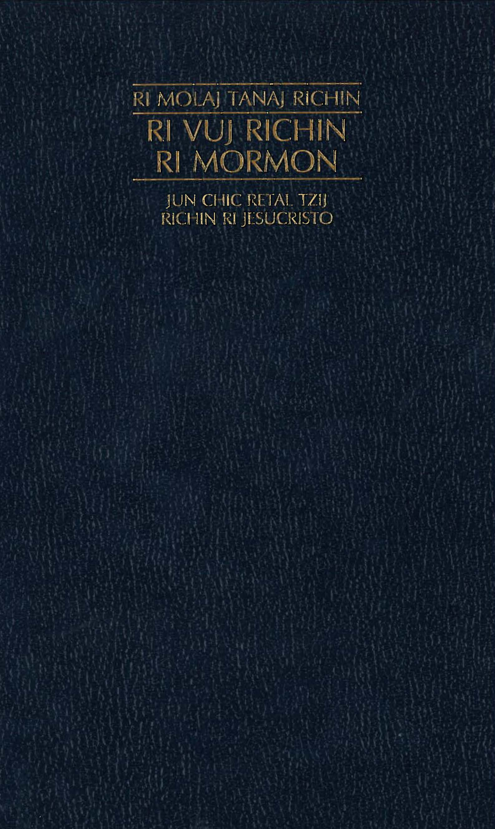 Book of Mormon Selections Cakchiquel Cover