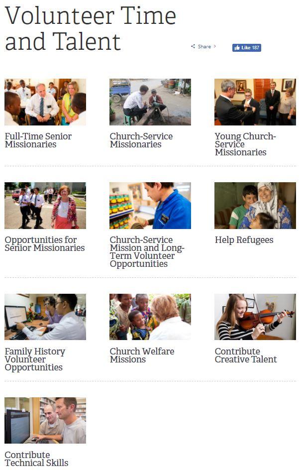 Volunteer Your Time & Talent at Volunteer lds org | LDS365