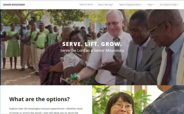 New Website About LDS Senior Missionaries