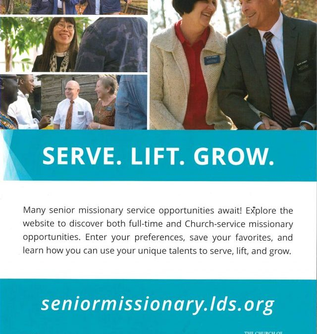 Senior Missionary Service Opportunities for Latter-day Saints