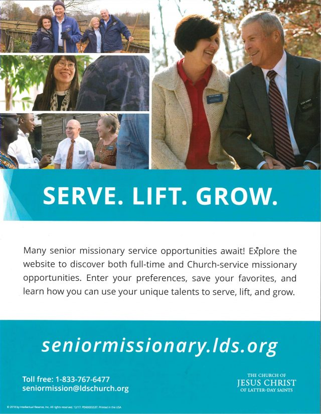 Senior Missionary Service Opportunities for Latter-day