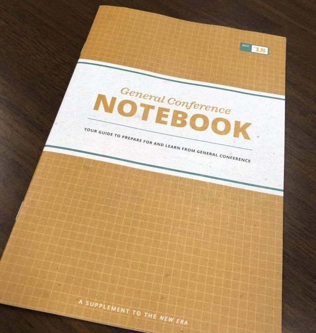 LDS General Conference Notebook, October 2018