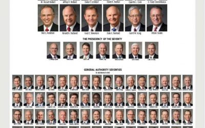 Download LDS General Authority Chart Updated October 2018