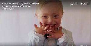 "Music Video for Down Syndrome Awareness Month: ""I am like a Star, Every Star is Different"" by Monica Scott"