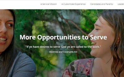 Service Missions for Young Missionaries