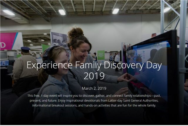 Register for Free RootsTech Family Discovery Day
