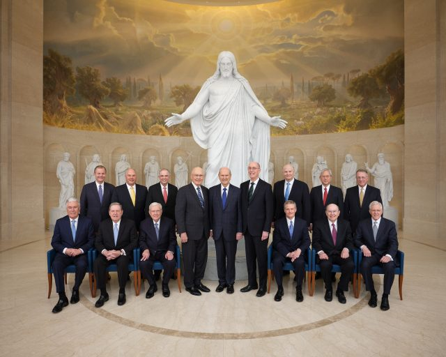 Photographs of First Presidency and Quorum of the Twelve Apostles in Rome