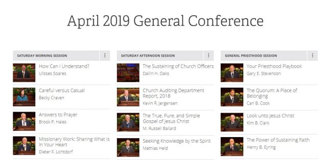 Text of April 2019 General Conference Now Online