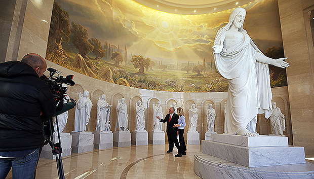 mural for the Rome Italy Temple Visitors' Center