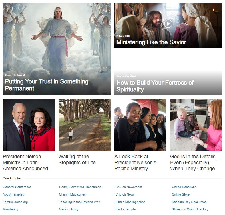 LDS org is Replaced by ChurchofJesusChrist org | LDS365: Resources