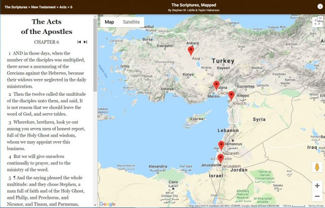 Study Tools Map Where Scripture Events Happened