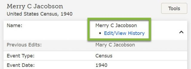How to Correct Errors in FamilySearch Indexed Names