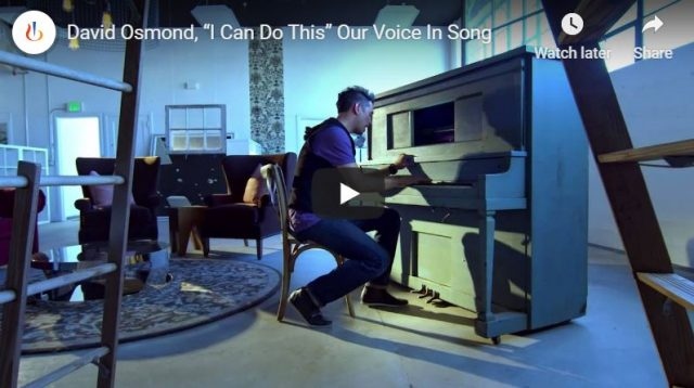"David Osmond: ""I Can Do This"" Our Voice In Song"