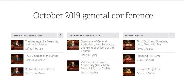 Text of October 2019 General Conference Now Online