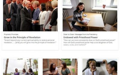 Updated Websites for Relief Society, Young Women, Aaronic Priesthood