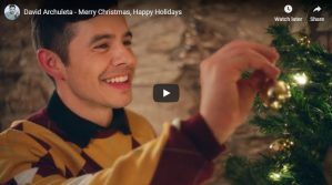 "Music Video: David Archuleta ""Merry Christmas, Happy Holidays"""