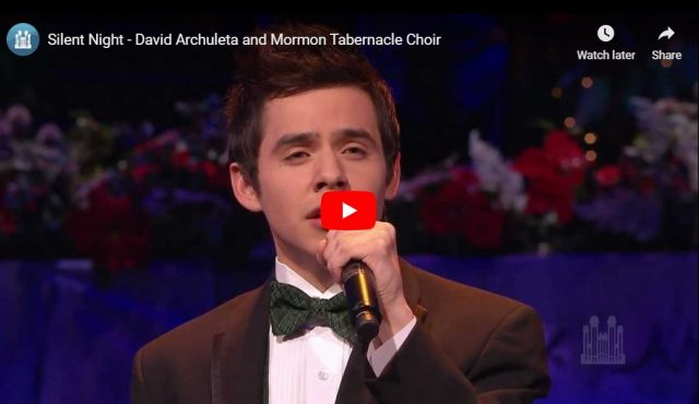 "Video: ""Silent Night"" by David Archuleta & Tabernacle Choir"