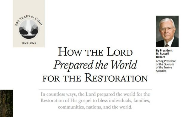 January Ensign & Liahona Help You Study About the Restoration