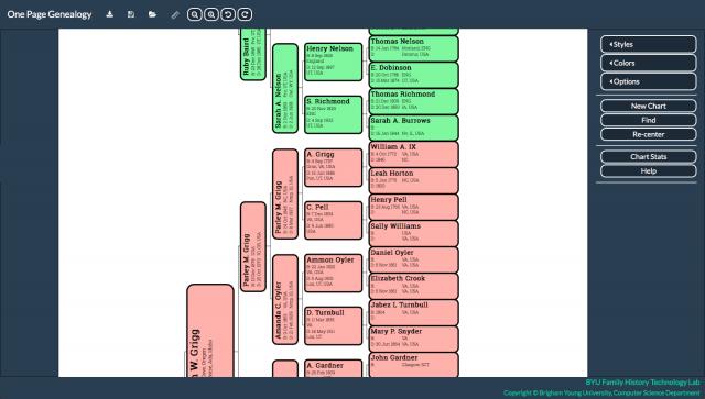 One Page Genealogy Lets You See Your Family Tree on One Page