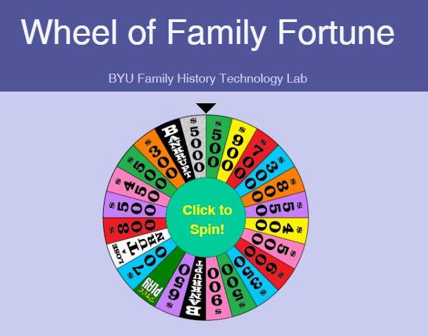 Wheel of Family Fortune Tests How Well You Know Your Ancestors