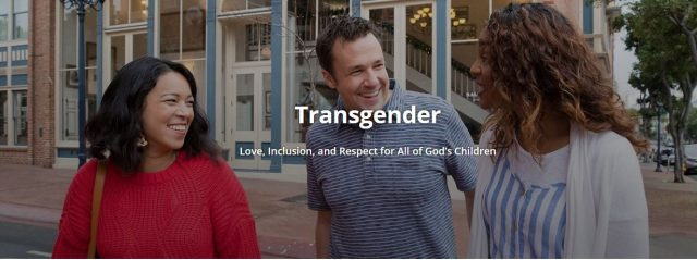 Resource on Transgender Added to Life Help Section of Church Website
