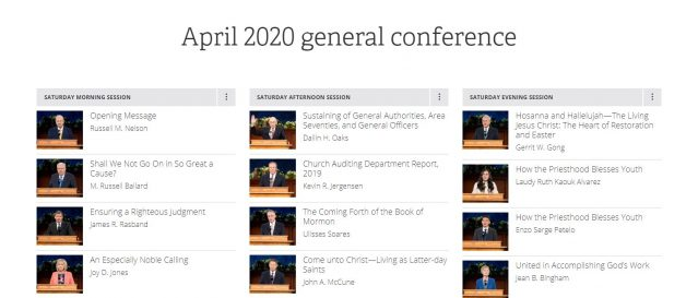 Text of April 2020 General Conference Now Online