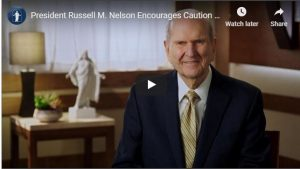 President Nelson Addresses Reintegration of Church Church Worship and Activities