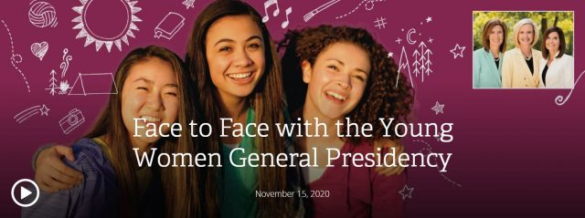 150th Anniversary of Young Women: Face to Face Broadcast and #My150 Challenge