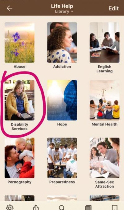Disability Resources Added to Life Help Section
