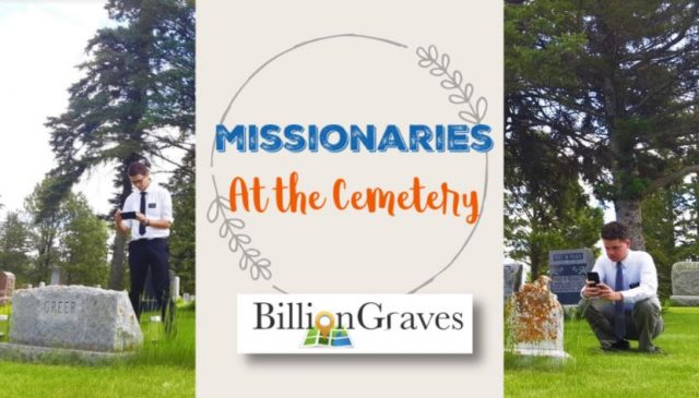 Missionaries Taking Photos of Gravestones