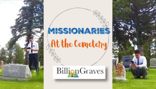 Missionaries Taking Photos of Gravestones