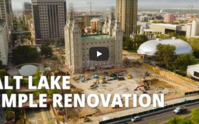 Video: Salt Lake Temple Renovation, September 2020 Update