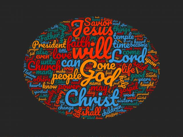 Word Cloud for October 2020 General Conference