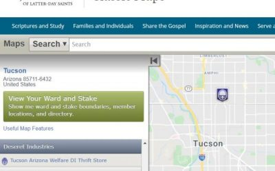 Maps for Stakes, Wards, Temples,FamilySearch Centers, Missions, Employment Resource Centers, Visitors' Centers, Deseret Industries