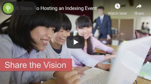6 Steps to Hosting a Successful Indexing Event