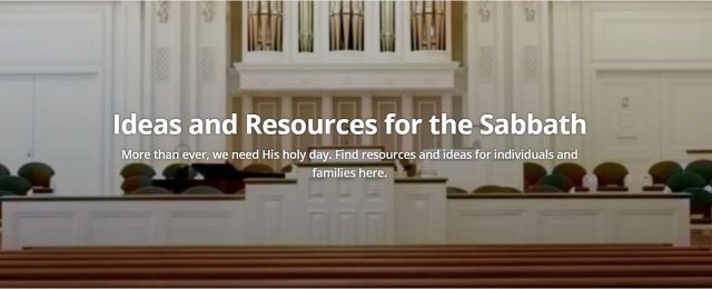 Resources and Ideas for the Sabbath