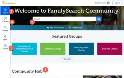 Get Help in the FamilySearch Community