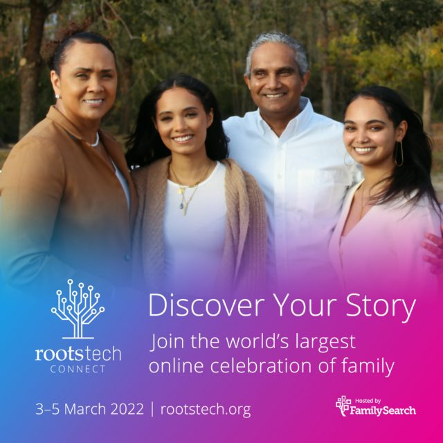 RootsTech Connect 2022 Will Be Held March 3–5, 2022